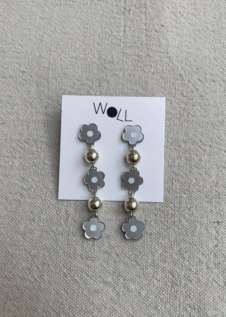 Woll Mod Flower Bauble earring