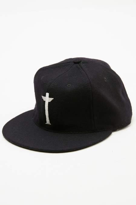 Totem Brand Co. x Ebbets Cap - Black Wool