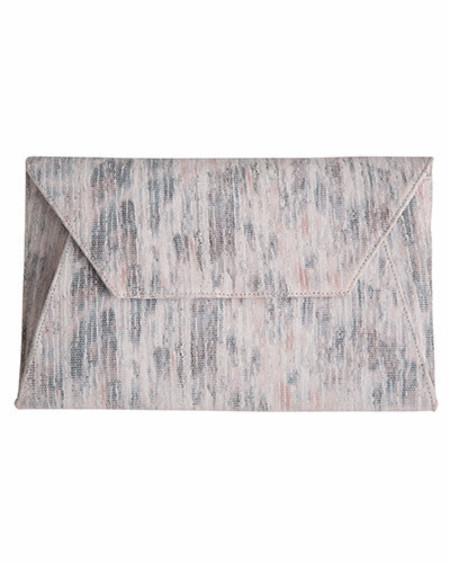 Oliveve cleo envelope clutch in marled nubuck cow leather