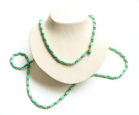 Pre-loved BUTTER TURQUOISE BEADED LAYERING NECKLACE - Turquoise