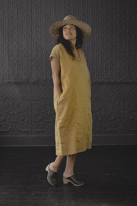 Pamela Mayer Column Dress - multi/yellow polka dot