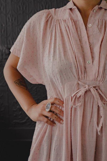 Matta NY Theresa Swiss Dot Dress - Woodrose