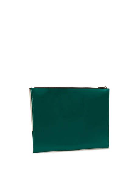 Marni Bicolor Clutch - Green