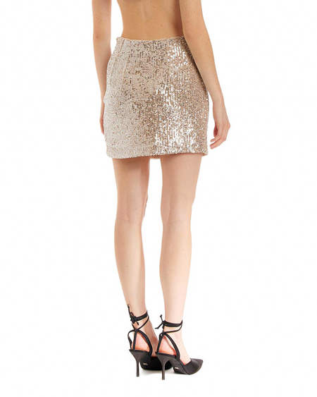 Rotate Sequins Skirt - Silver