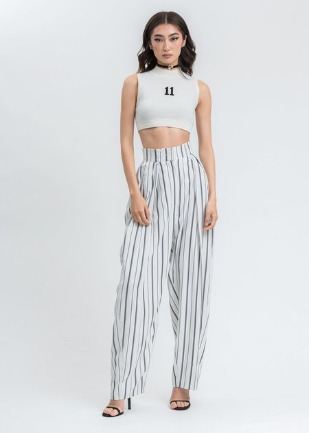 we11done High Waist Tapered Trousers - Black