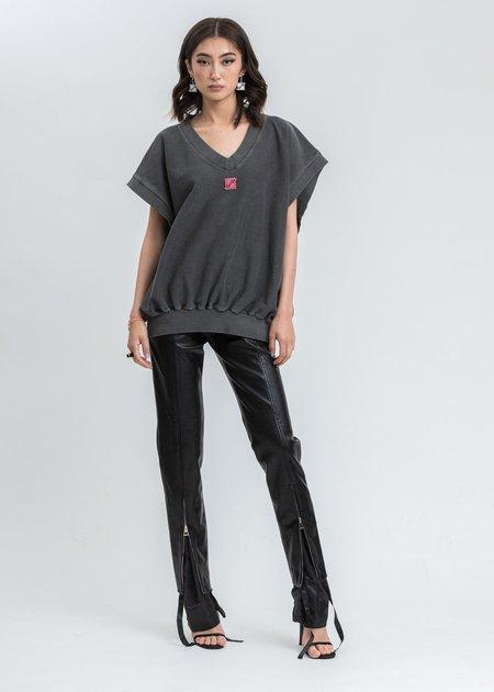 we11done Metal Logo Oversize Vest - Charcoal