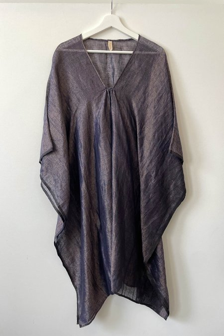 Two New York Caftan dress - Blue Linen