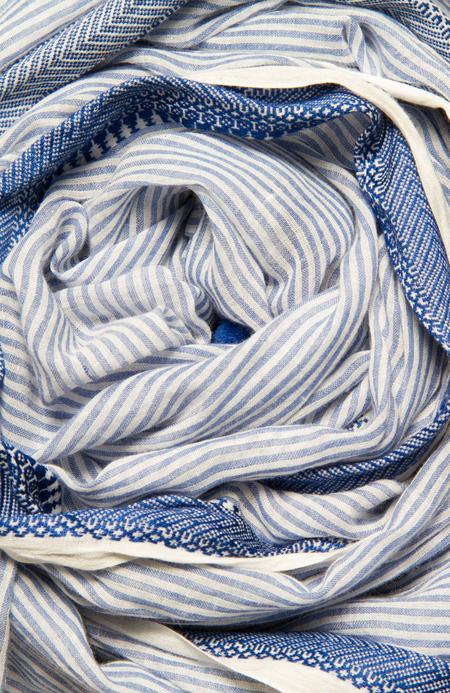 Sevya Sarvani Cotton Stripes Scarf