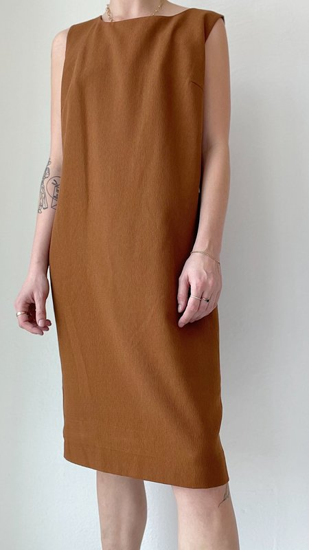 Vintage Midi Dress - brown
