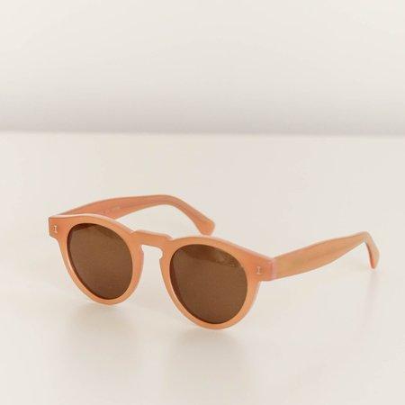 Unisex Illesteva Leonard Sunglasses - Nectarine/Brown Lenses