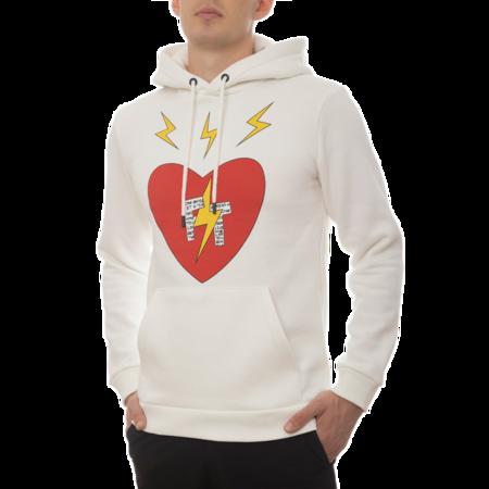 UNISEX Fabrice Tardieu Hoodie Good Vibes Star FT FTHHC sweater - Cream