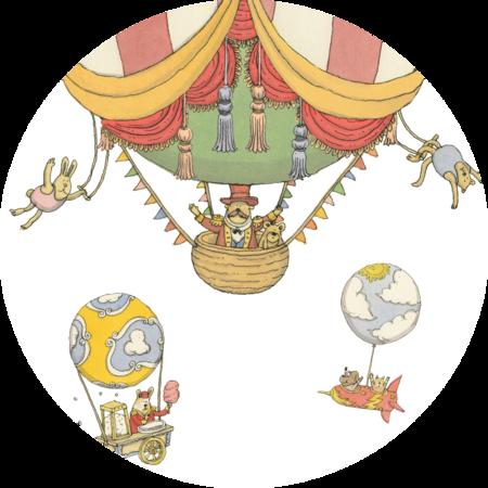 atelier choux circus velour cushion - multi