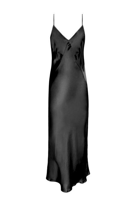 KES 7/8 Triangle Slip Dress - Black