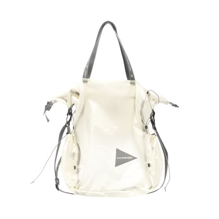 and wander SIL TOTE BAG - OFF WHITE