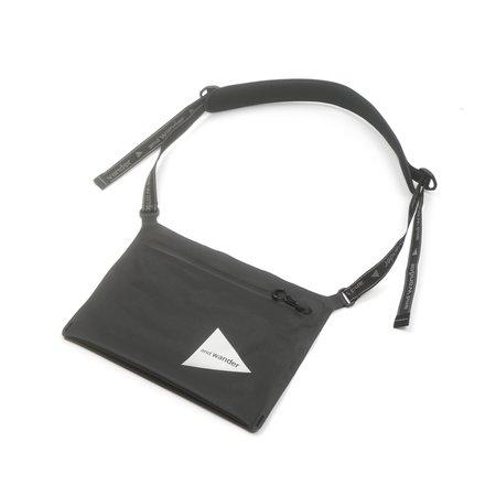and wander WATERPROOF SACOCHE bag - BLACK