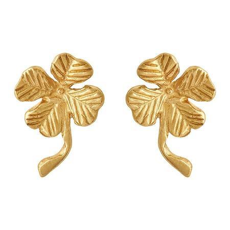Parel Parel Clover studs - Gold