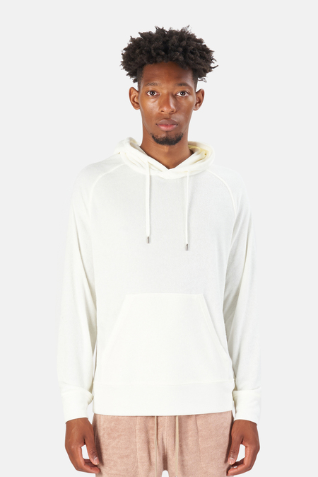 Blue&Cream Poolside Terry Pullover Hoodie Sweater - Chic Cream
