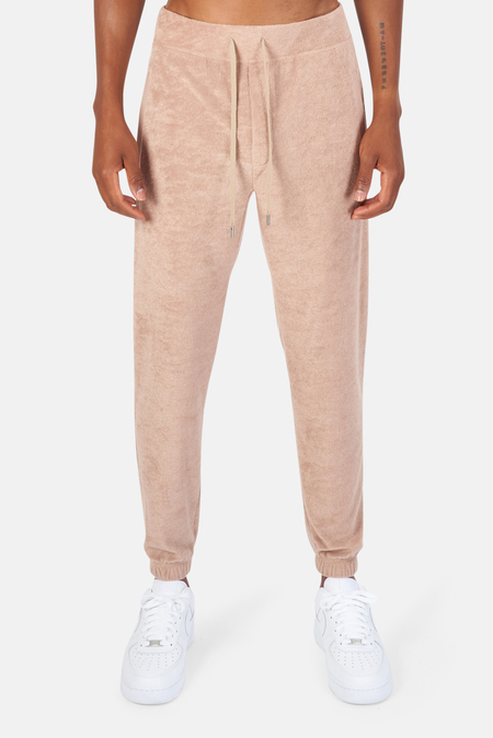 Blue&Cream Poolside Terry Pull On Pants - Camel