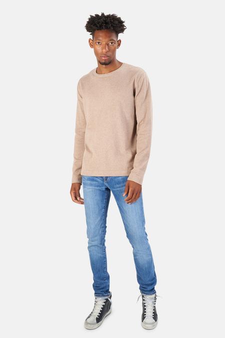 Blue&Cream Reade Long Sleeve T-Shirt - Walnut