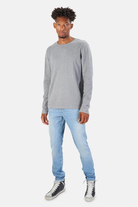 Blue&Cream Reade Long Sleeve T-Shirt - Grey Shadow