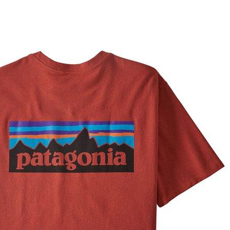 PATAGONIA P-6 Logo Responsibili-Tee - Hot Ember