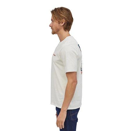 PATAGONIA P-6 Summit Road Organic Cotton T-Shirt - White