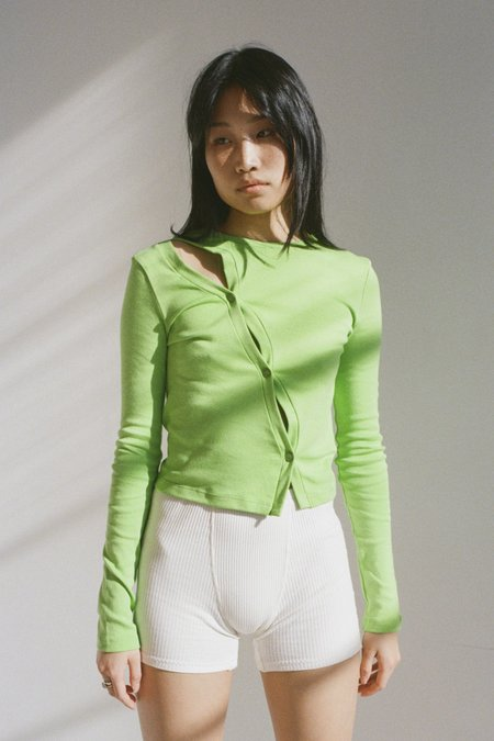 SISTER Kevin Cardigan – Lime Green
