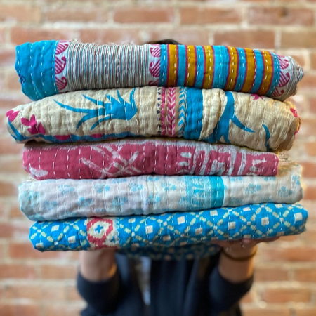 Seeds Jewelry Kantha Throws