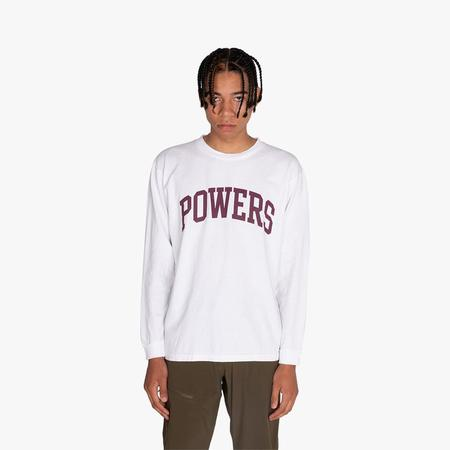 Powers Supply Powers Arch Long Sleeve T-shirt - White