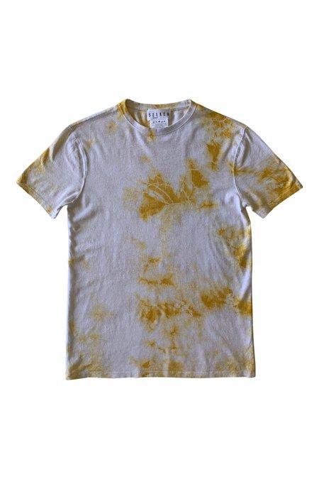 Unisex SEEKER Tye Dye Hemp Tee - Mustard Marble