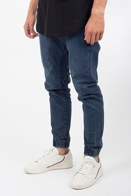 Lira Vintage Denim Jogger Pant - Dark Blue