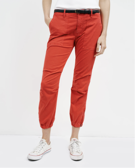 Nili Lotan Cropped Military Pant - Sunfaded Red