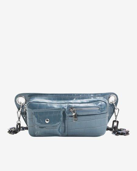 Hvisk Brillay Croco Bag - Dark Blue