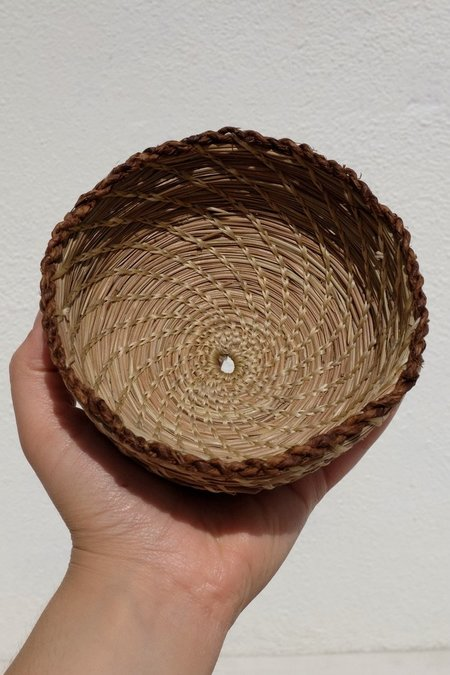 Borrowed Basketry Pine Needle Little Bowl Basket - natural