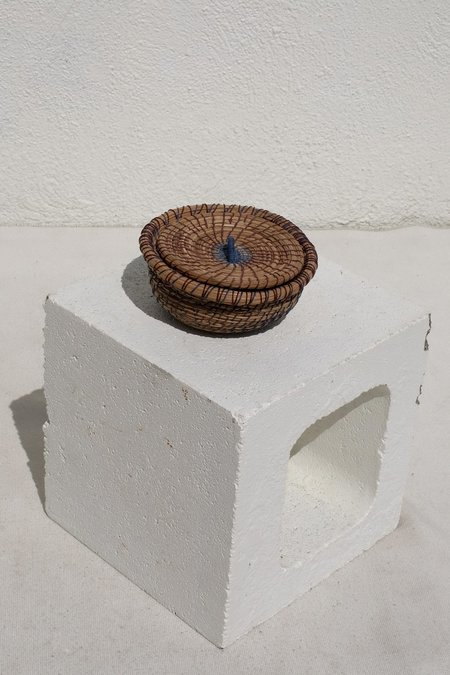 Borrowed Basketry Pine Needle Treasure Basket - natural