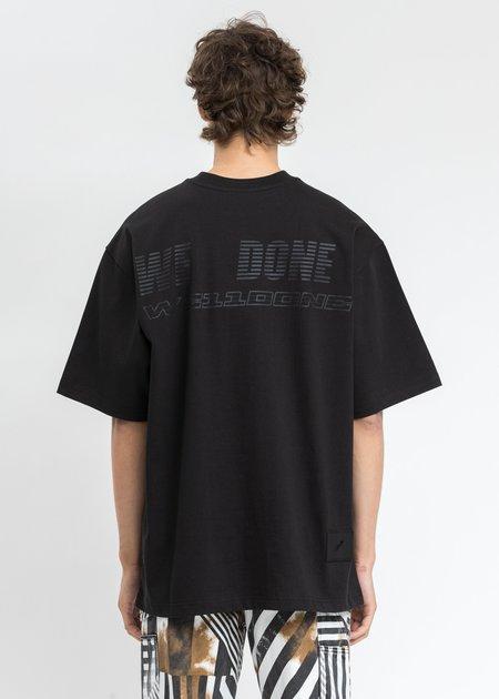 we11done Big Logo Printing T-Shirt - Black