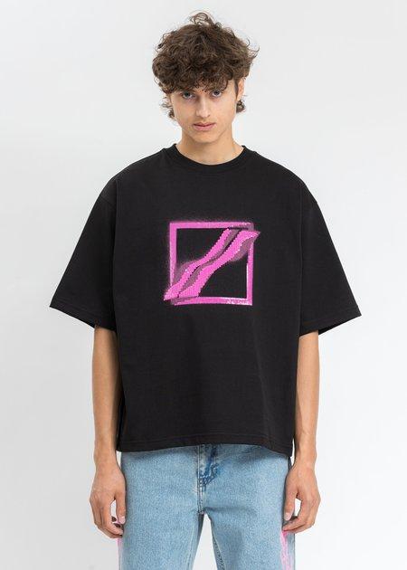 we11done Sequins Logo T-Shirt - Black