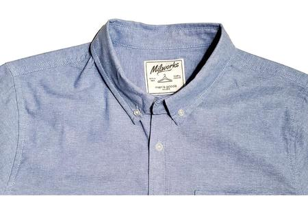 Milworks Chambray Oxford Shirts - Blue