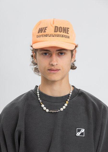we11done Trucker Mesh Cap - Neon Orange