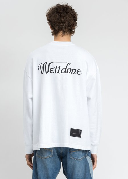 we11done Horror Collage Long Sleeves top - white