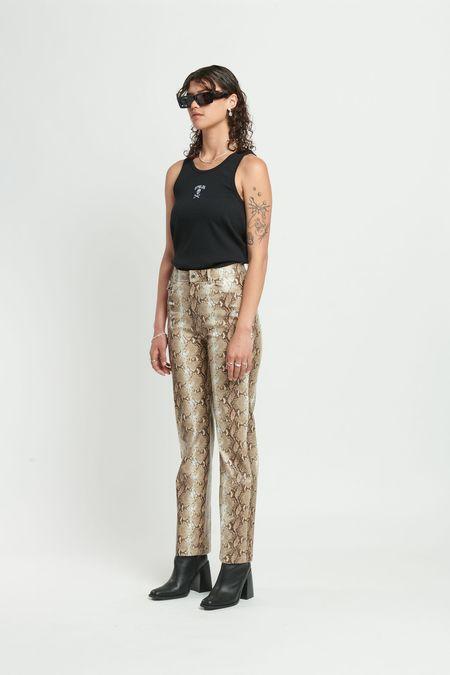 Stolen Girlfriends Club Reptillian Revenge Pant - Snake Print