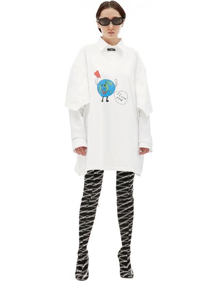 Balenciaga Printed T-shirt - white