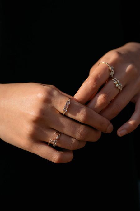 Jennie Kwon Designs Diamond Opal Trio Equilibrium Ring