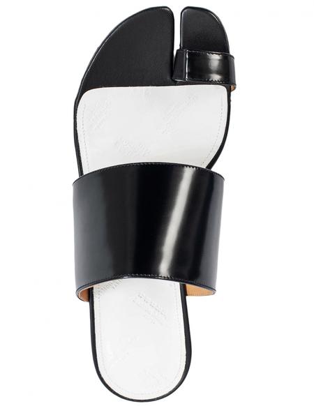 Maison Margiela Leather Tabi Sandals - Black