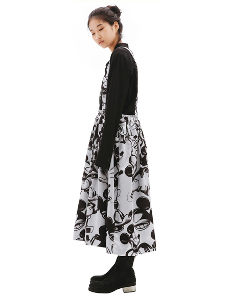 Comme des Garcons Mickey Mouse Printed Skirt