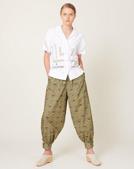 Caron Callahan Cairo Pant - Olive Lady Print