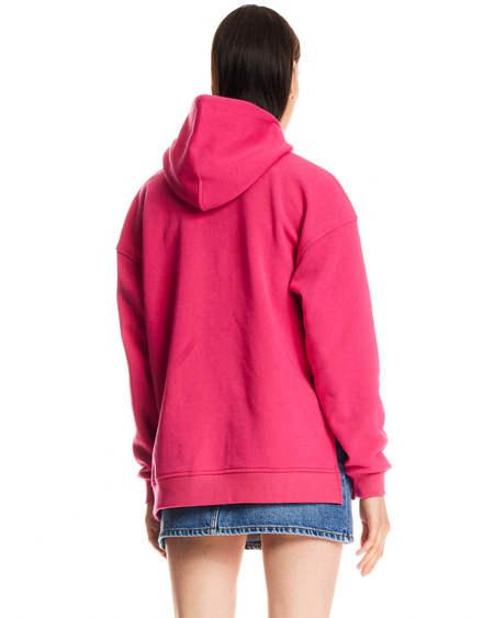 Ganni Wide Hooded Sweatshirt - Pink
