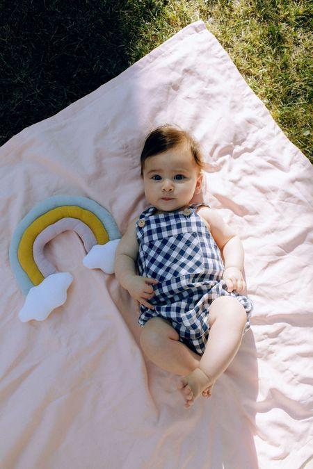 Kids Petits Vilains Loïc Overalls - Navy Gingham