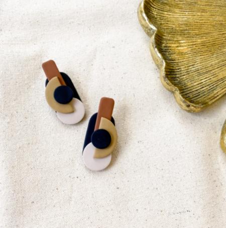 Viki Glaze Celine Earrings - 18k gold