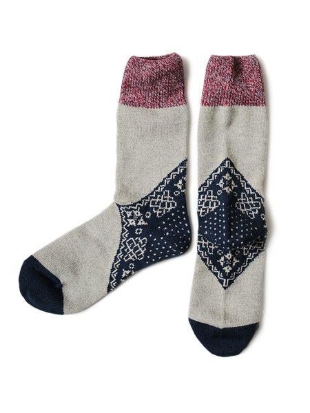 Kapital 96 Yarns Heel Bandana Socks - Navy